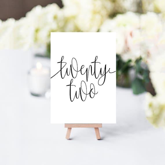 photograph regarding Table Number Printable named Straightforward Desk Figures, Printable Desk Figures, Rustic Desk Quantities, Marriage Desk Figures, Black and White Desk Quantities, Desk Quantity Preset