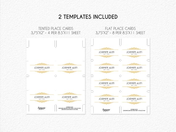 Place Cards Template Printable Name Cards Escort Cards Seating