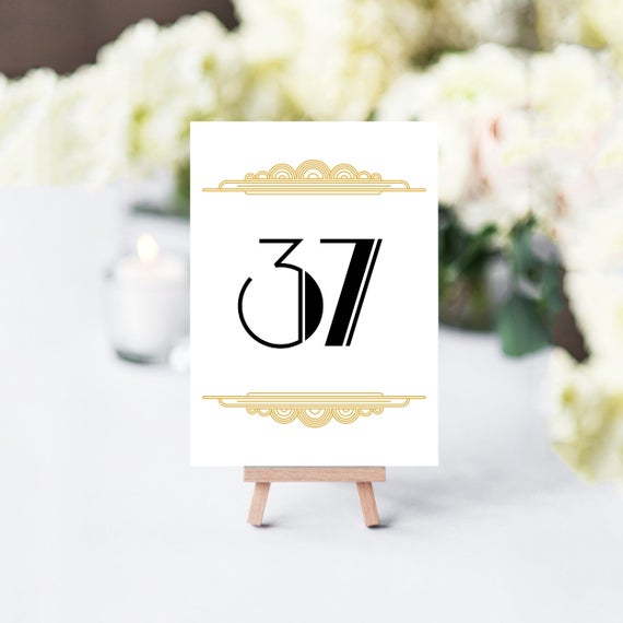 Astounding Wedding Table Numbers Printable Table Numbers Gatsby Table Numbers Table Numbers Wedding Pdf Instant Download Art Deco Table Number Download Free Architecture Designs Embacsunscenecom