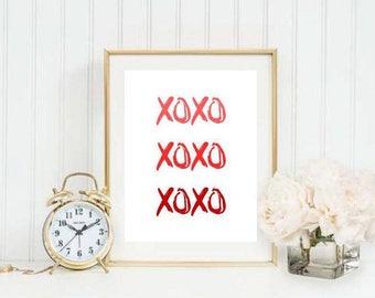 XOXO Ombre Printable 2