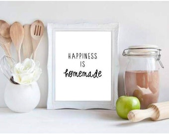 Happiness is Homemade Print