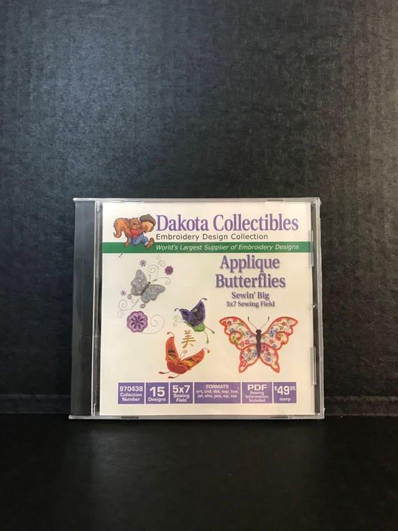 Dakota Collectibles Applique Butterflies Embroidery Designs Etsy
