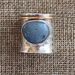 Private Listing for Ness: Sterling silver hammerd Leland Blue soinner Ring