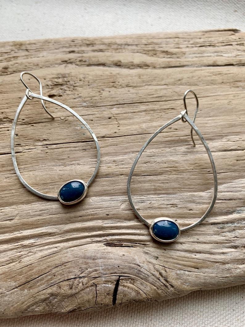 Leland Blue hammered teardrop earrings image 0