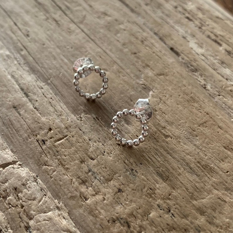 Breaded circle studs image 0