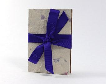 Pressed Flowers Brown Hardcover Handbound Instax Mini Film Accordion Album - Kraft Cardstock with Black Photo Corners