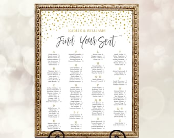 wedding seating chart template table seating chart printable etsy