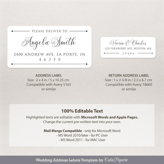 Microsoft Mailing Labels Template