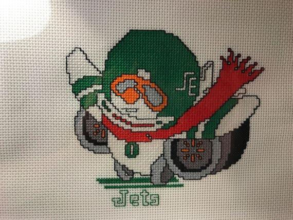 NFL New York Jets Mascot cross stitch pattern