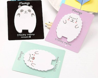 sheep sticky notes etsy