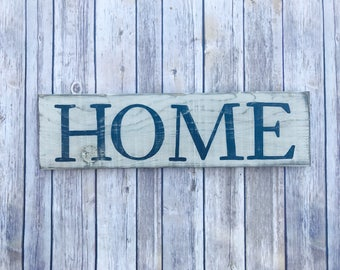 Rustic Home Sign- Wood Home Sign- Farmhouse Decor- Rustic Wood Sign- Distressed Wood Sign- Rustic Wall Décor