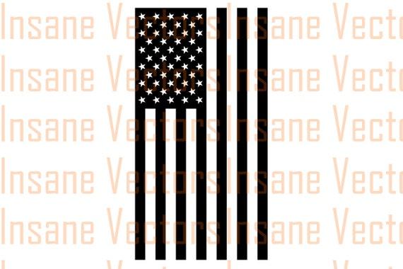 American Flag Silhouette Clip Art Image American Flag Vector Etsy