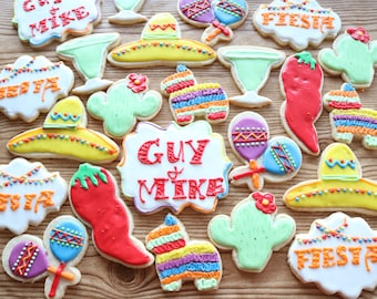 FIESTA CINCO de MAYO May 5th Mexican Mexico Festive Party Holiday Sugar Cookies