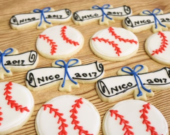 BASEBALL Sports Customizable Sugar Cookies