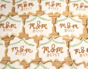 WEDDING BRIDAL ENGAGEMENT Married Party Customizable Sugar Cookies