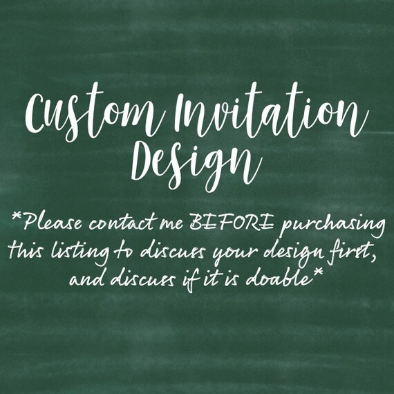Diy Invitation Custom Invitation Customized Invitation Etsy