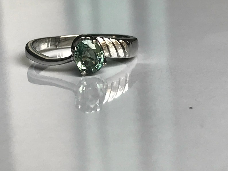 A beautiful aquamarine ring is made in 925 sterling silver