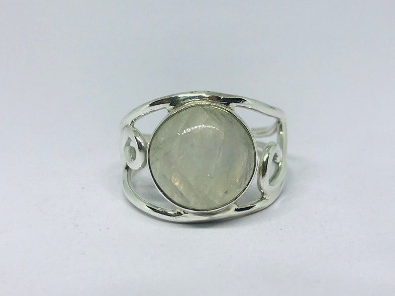 NATURAL RAINBOW MOONSTONE handmade ring gifts for her