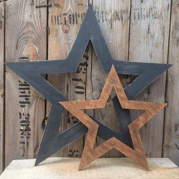 Rustic Star Home Decor - Set of 2 Stars