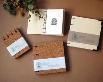 Polaroid album-Cork album-Polaroid photo álbum-Handmade Photo album-Wood Album-Polaroid 600-PolaroidSX, picture book, polaroid picture book
