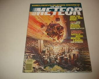 Warren Presents The Official Magazine of the Movie Meteor~January 1980~Interviews With Natalie Wood~Martin Landau