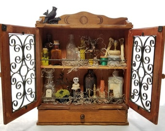 Witches Apothecary Display Cabinet