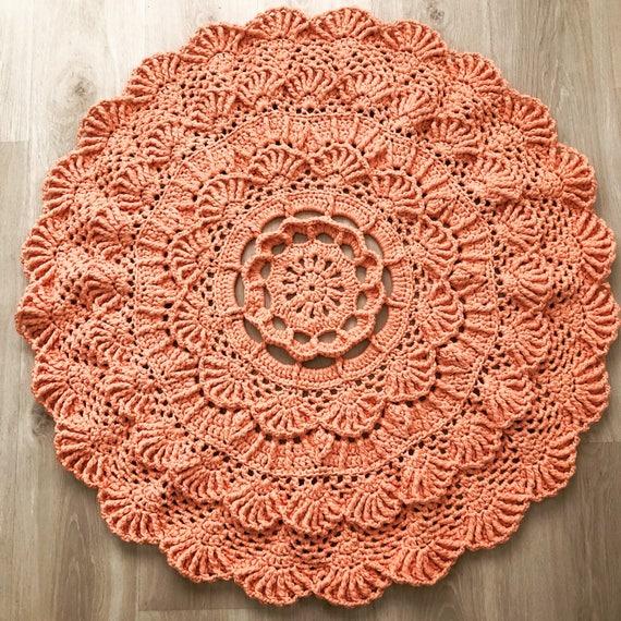 Häkeln Sie Deckchen Teppich Dekorative Teppich Rund Teppich Etsy