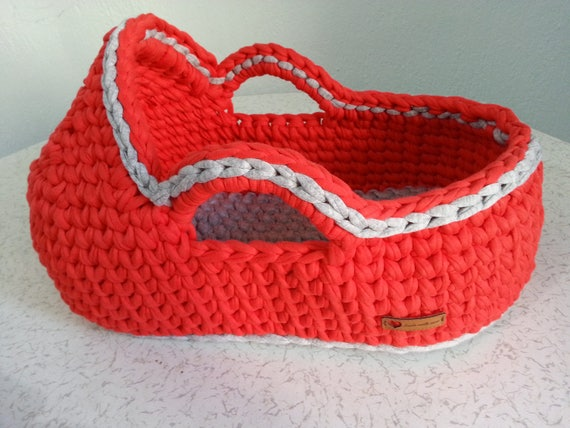 Crochet doll basket Baby doll moses basket Baby doll bassinet | Etsy | 428x570