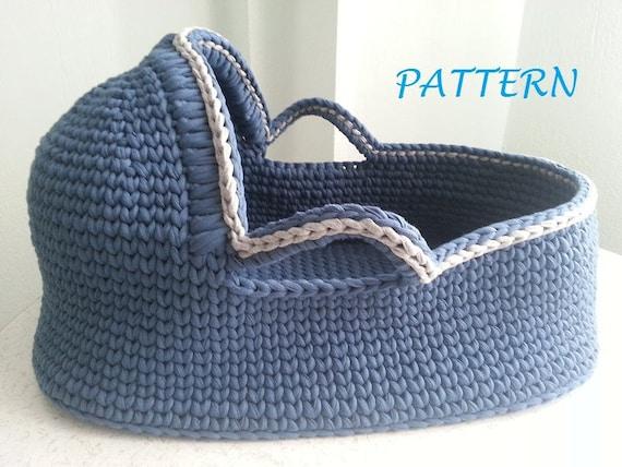 Crochet Pattern Baby Moses Basket Baby Crochet Pattern