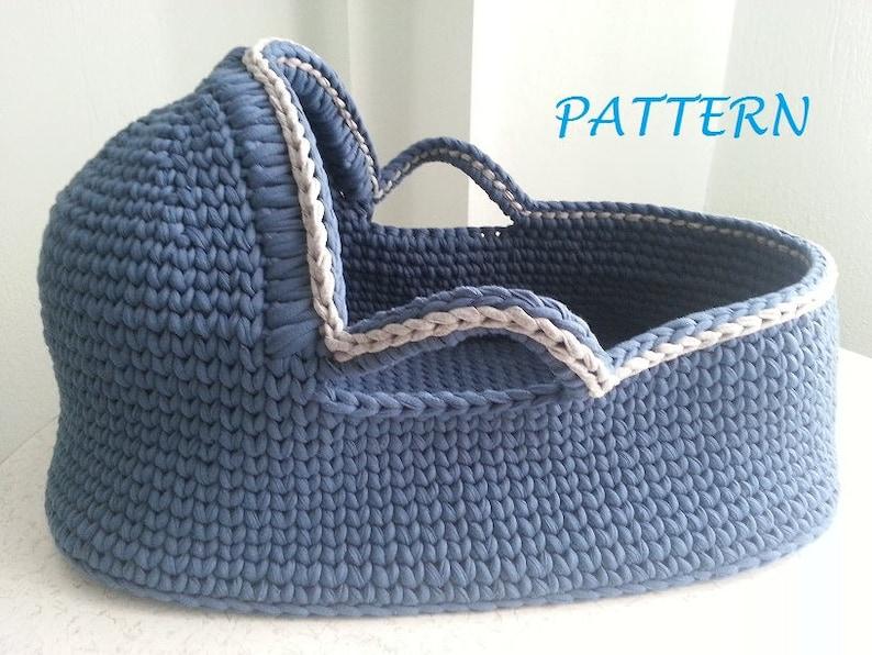 Crochet Pattern Baby Moses Basket Baby Crochet Pattern Crochet Etsy