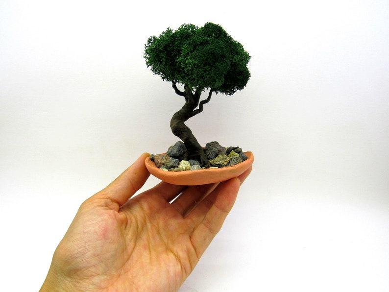Albero dei bonsai con albero artificiale vaso fatto a mano etsy