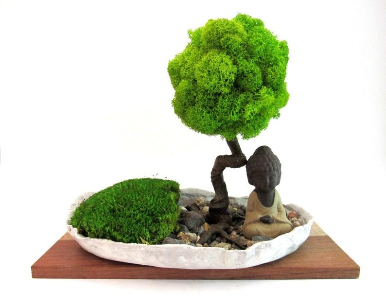 Globus Bonsai Baum Miniatur Zen Garten Kleine Zen Mönch Globe Etsy