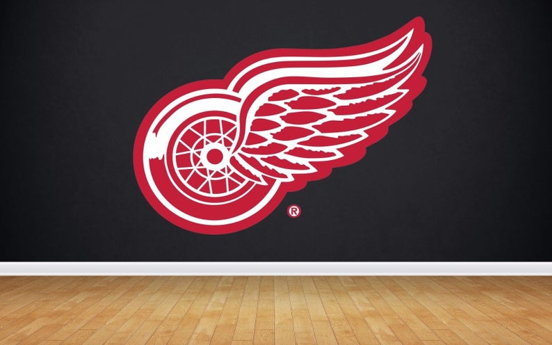 Detroit Red Wings Logo Wall Decal Red Wings sticker Red  397da0a056