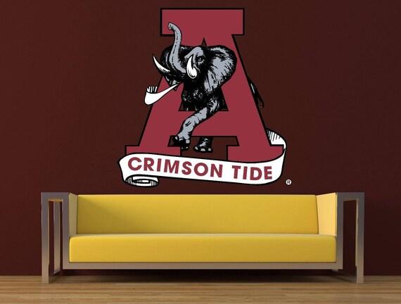 Bama Decor Bama Decal cfb 116 Alabama Sticker Alabama Crimson Tide Logo Decal
