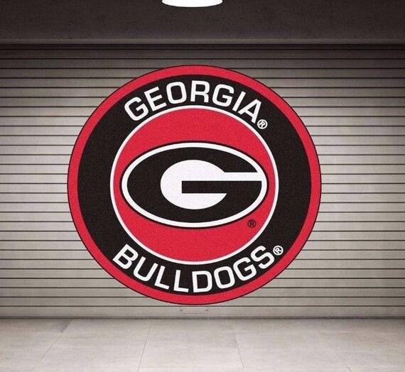 Georgia Bulldogs Logo Wall Decal Georgia Bulldogs Sticker Etsy