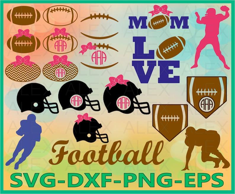 70 Off Football Svg Football Laces Svg Football Monogram Etsy