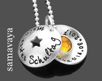 Armband Schulanfang Geschenk zur Einschulung ENDLICH SCHULKIND 2.0
