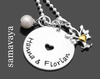Bridal jewelry NEWLYWEDS 925 Silver chain to the wedding partners jewelry