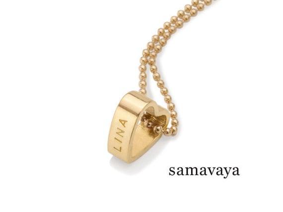 f1c4779f0678 Namenskette mit Gravur Gold MEIN HERZ GOLD Namensketten   Etsy