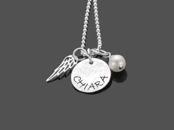 Herzerl 925er plata charm personalizada nombre colgante samavaya