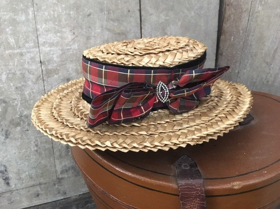 Straw boater 19th century