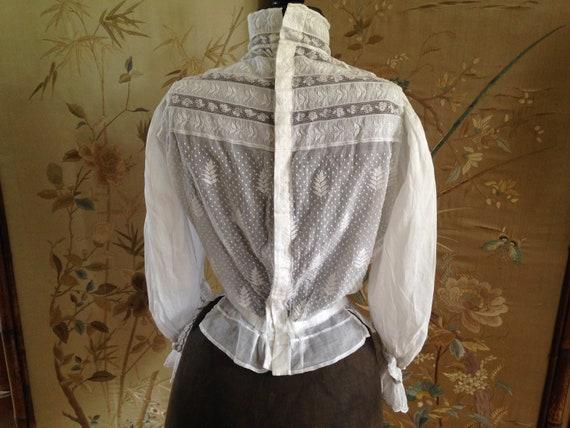 Edwardian white blouse - image 3
