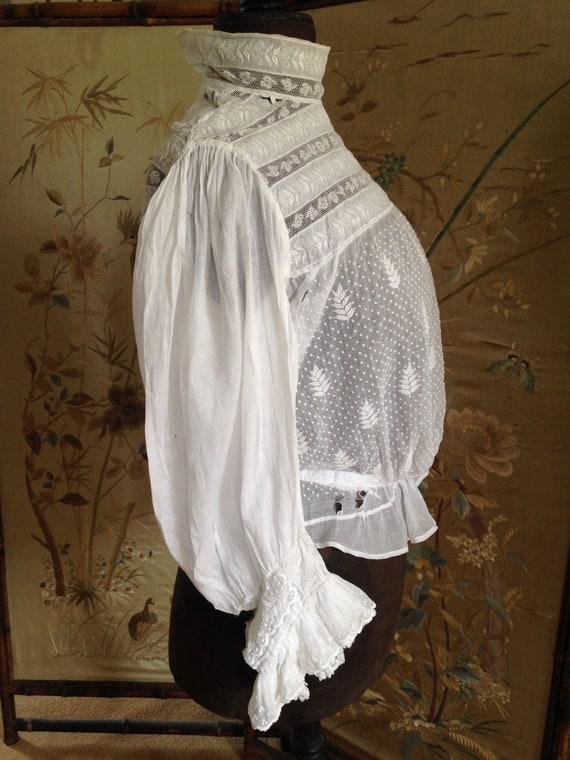 Edwardian white blouse - image 7