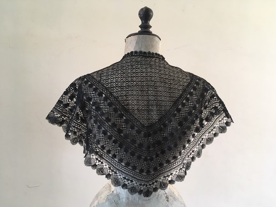 Victorian lace shawl