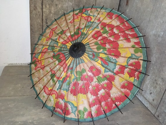 Antique Japanese paper parasol