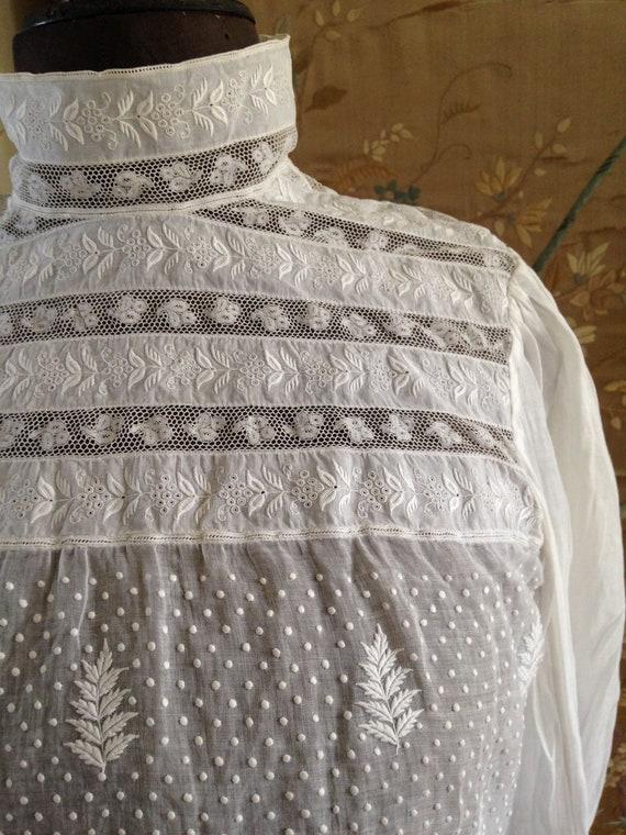 Edwardian white blouse - image 4