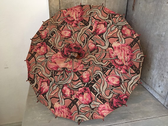 Small 1920s chintz parasol