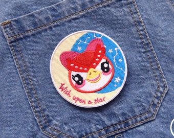 Wish Upon a Star Celest Patch // embroidery, ACNH, animal crossing, kawaii, magical, gaming, constellation, Pixielate Design