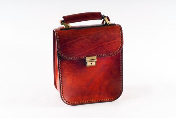 Mens Handbag Leather Office Bag Men Leather Bag Leather Etsy
