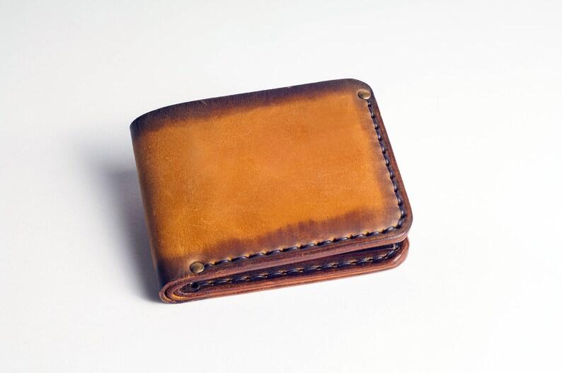 873e0fe9b41 Minimalistische wallet portemonnee lederen portemonnee heren | Etsy